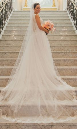 Ines di santo sheer 3 199 size 2 used wedding dresses for Ines di santo wedding dresses prices