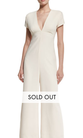 Other T by Alexander Wang, Open-Back Crepe Jumpsuit