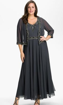 Other Jkara Beaded Chiffon Jacket Dress, Size: 16 | Mother of the ...