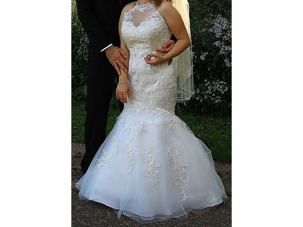 Other Jewel Petite Lace and Tulle Wedding Dress, 7WG3735, $400 Size ...
