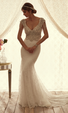 anna campbell sierra, $3,696 size: 10 | sample wedding dresses