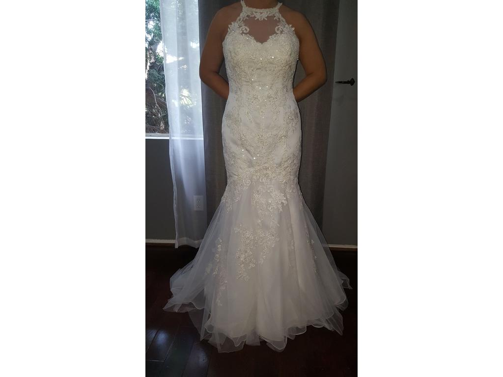 Other jewel petite lace and tulle wedding dress 7wg3735 for Petite lace wedding dresses