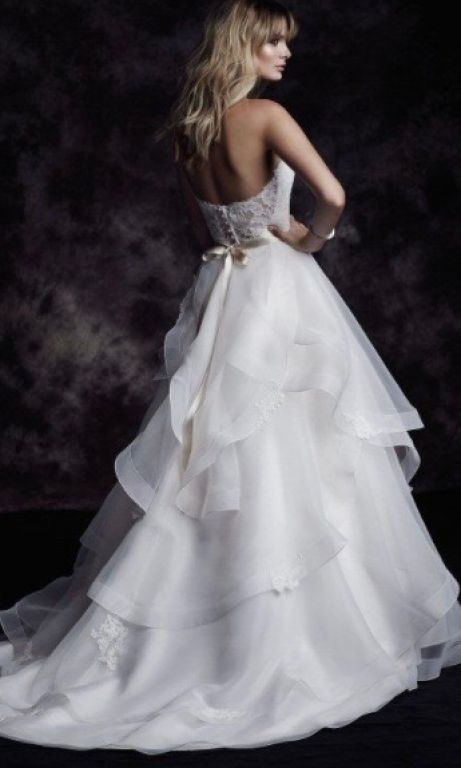 Paloma Blanca 4610, $1,699 Size: 10 | Sample Wedding Dresses