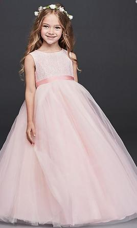 David S Bridal Ball Gown With Heart Cutout Flower Girl