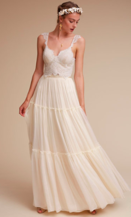 BHLDN Havana Corset Top & Anika Tulle Skirt, $80 Size: 2 | New (Un ...