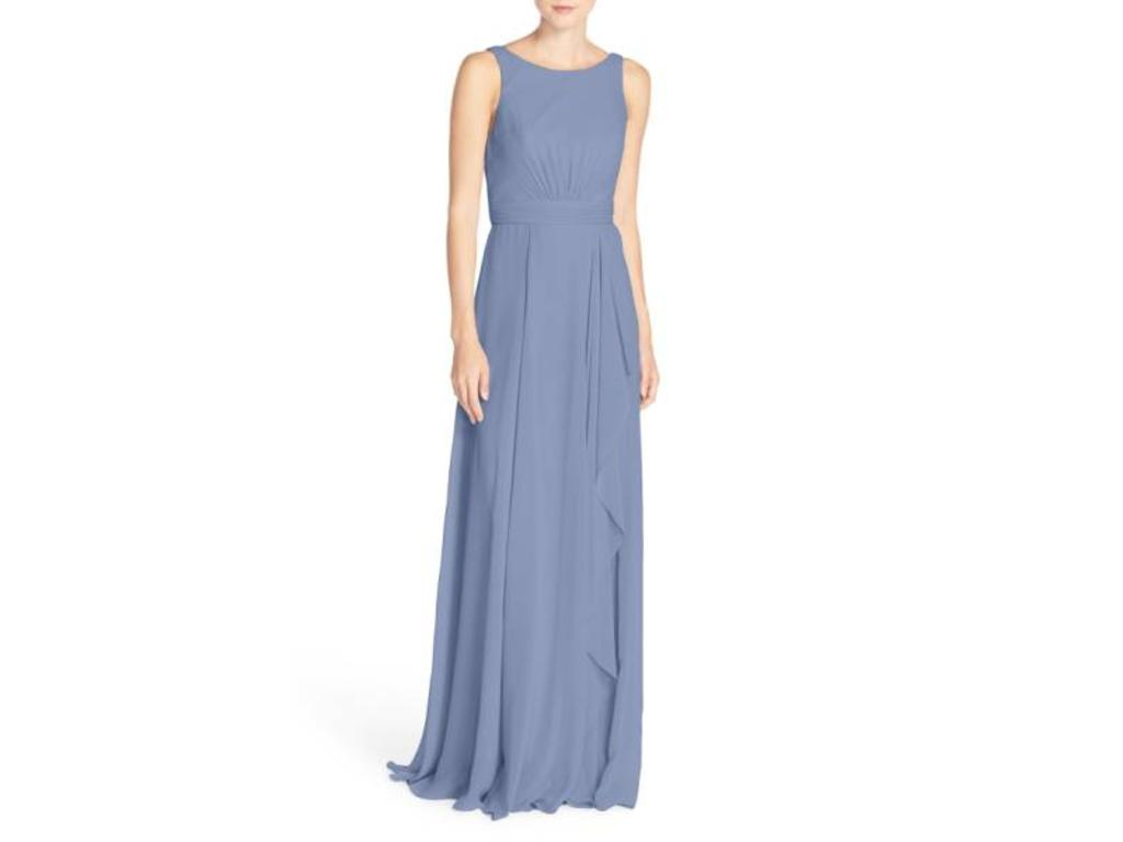 9698247bbb Pin it · Amsale  Rory  Sleeveless V-Back Chiffon Gown 2