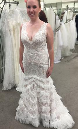 fcddc48742b Pin it · Galina Signature - Beaded Lace with Plunging Neckline 10