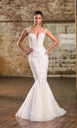 fded357ea8560 Justin Alexander Plunging Jewel Neck Venice Lace Bridal Gown 8796 ...