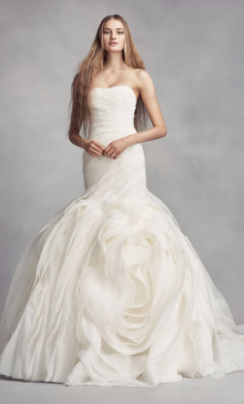 Vera Wang White White by Vera Wang Organza Petite Wedding Dress ...