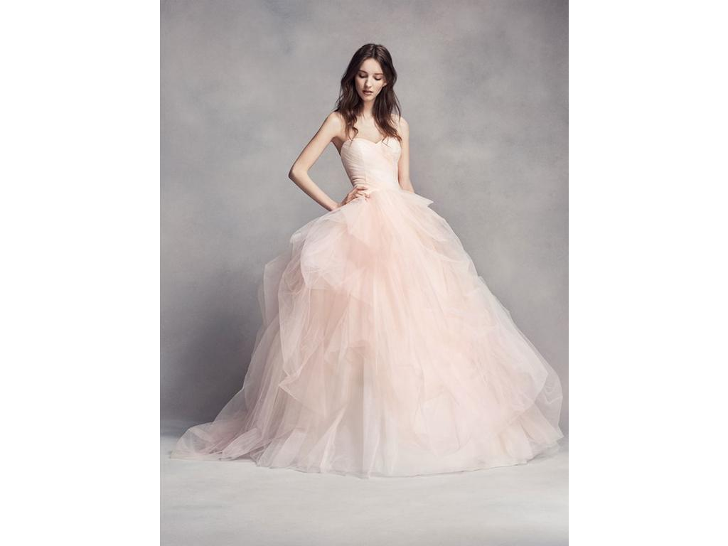 Vera Wang White Ombre Tulle Wedding Dress, VW351322, $798 Size: 8 ...