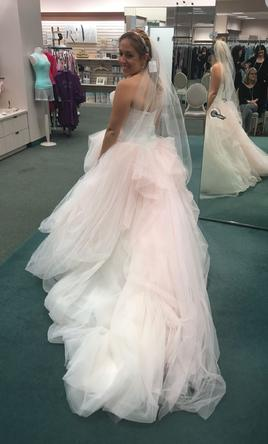 Vera Wang White VW351322, $699 Size: 8 | New (Un-Altered) Wedding ...