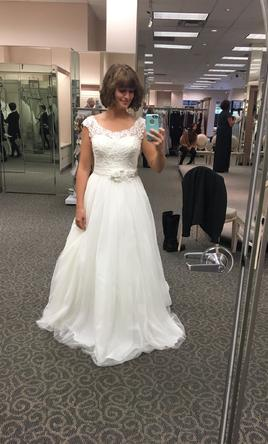 David S Bridal Tulle Ball Gown Wedding Dress Ntwg3741