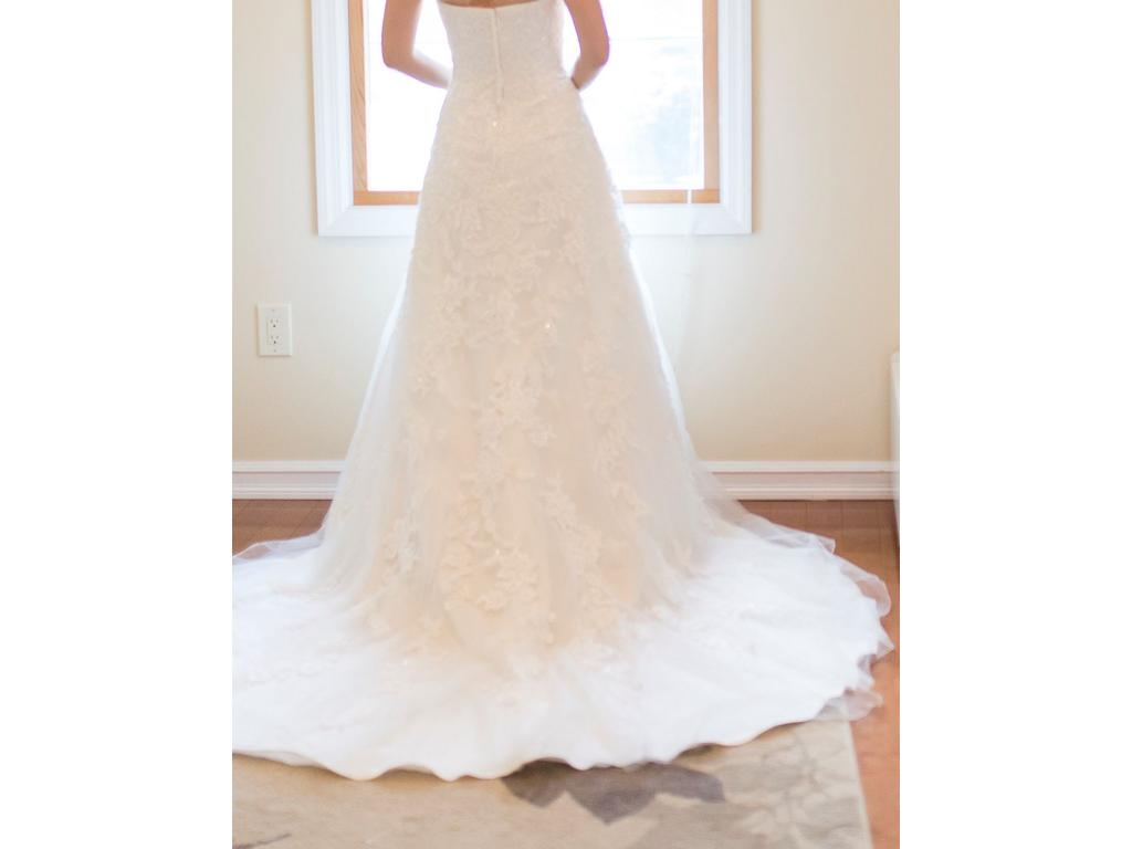 David\'s Bridal Sweetheart A-line Tulle and Lace V3587, $369 Size: 2 ...