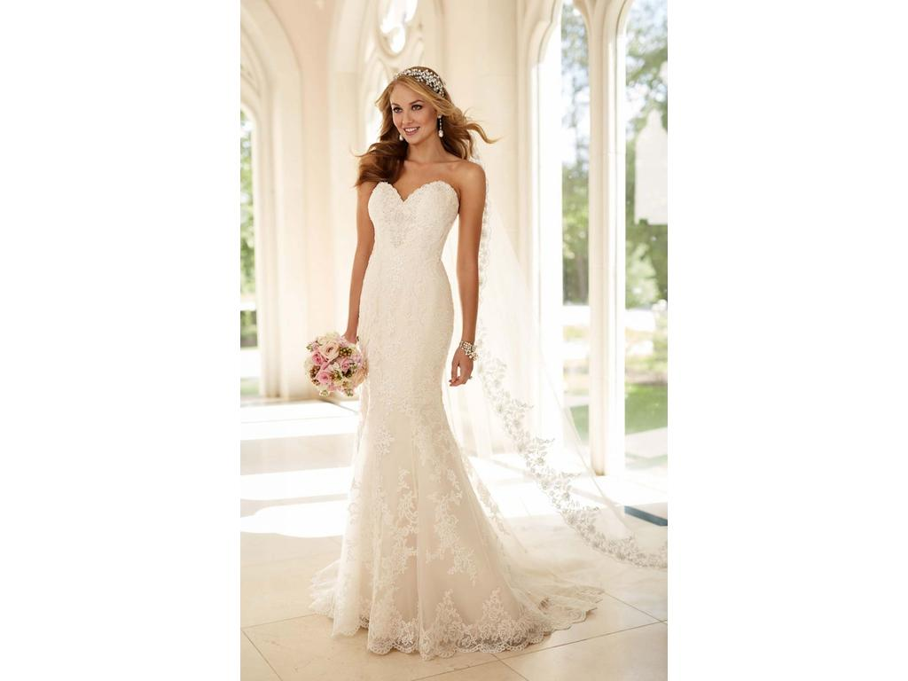 Stella York 6220 Fit-and-Flare Strapless Wedding Dress, $750 Size ...