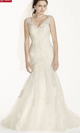 Davids Bridal Jewel Mermaid Wedding Dress With Open Back 2