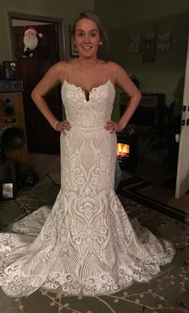 b0b5ecee3dc85 Hayley Paige West Wedding Dress | New (Un-Altered), Size: 12, $1,400