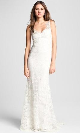 635847bd7f Nicole Miller. 'Brooke' Sleeveless Lace Trumpet Gown