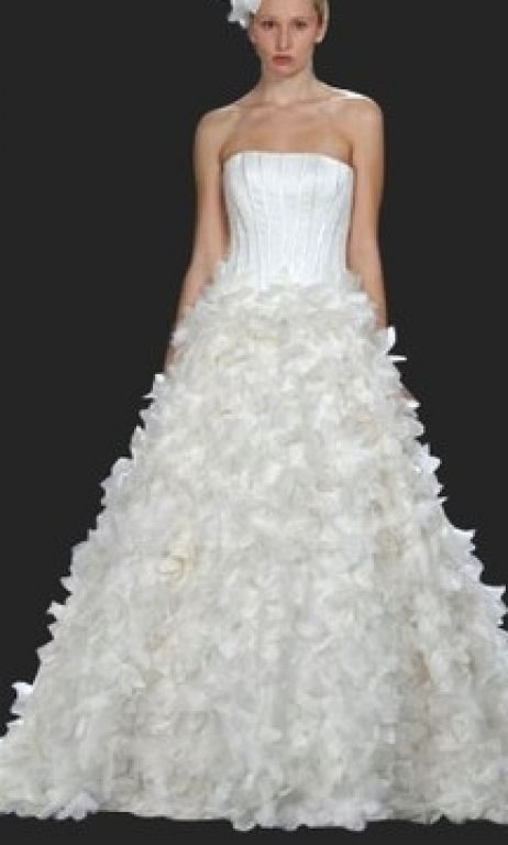 Other Silvia Tcherassi Cream Hibiscus Bridal Gown, $2,500 Size: 4 ...