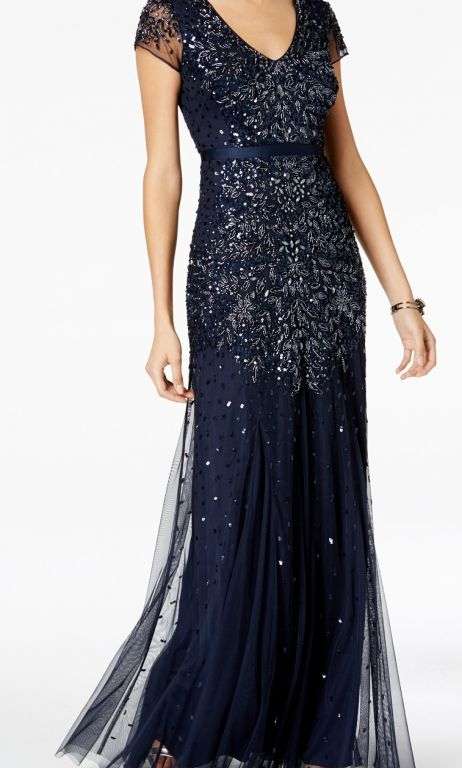 Adrianna Papell Embellished Gown Plus Size, Size: 16W | Mother of ...
