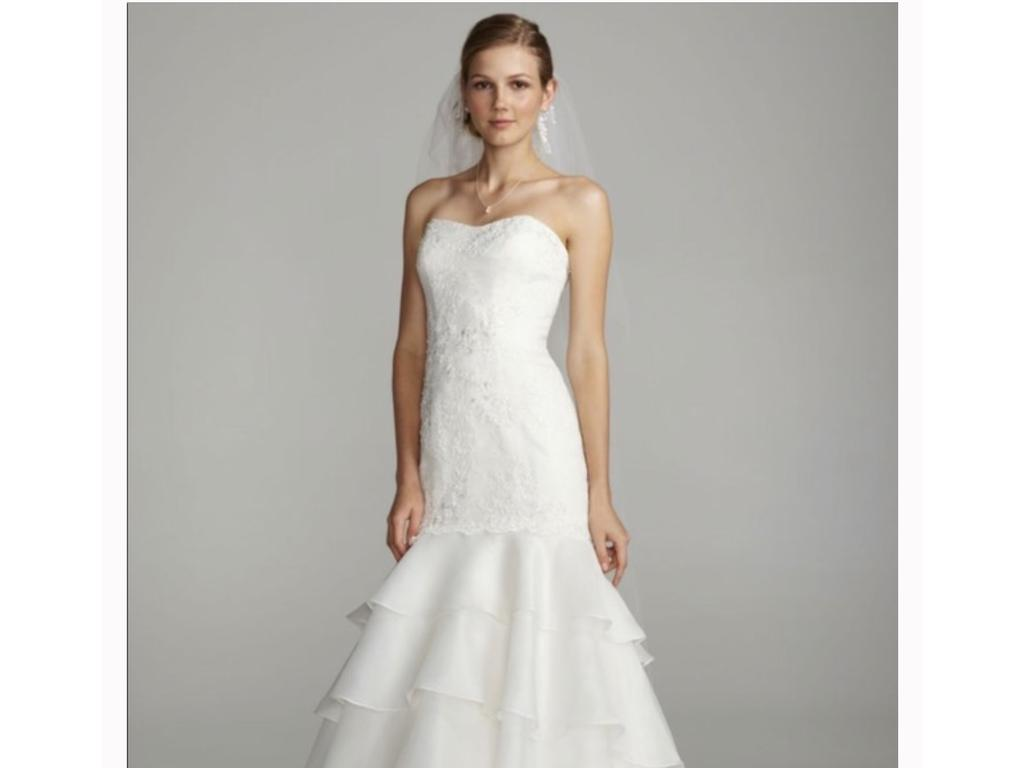 Melissa Sweet Sweet floral lace trumpet bridal gown , $300 Size: 10 ...