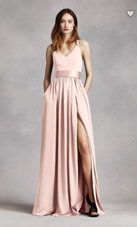Pin It Add To Vera V Neck Halter Gown With Sash 6