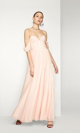5b68db4f5a57f Other Blush Georgette Gown by Fame & Partners, Size: 12 | Bridesmaid ...