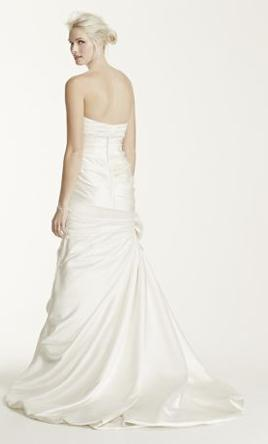 David\'s Bridal Satin Mermaid Wedding Dress with Bow Detail V3204 ...