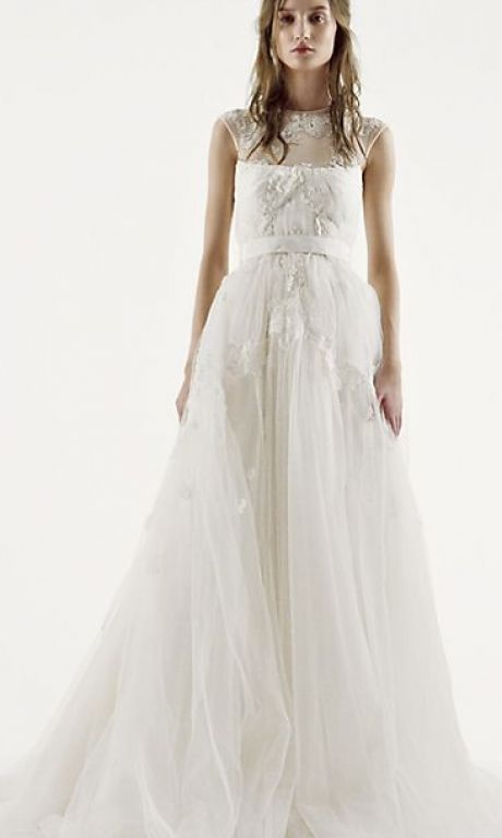 Vera Wang White VW351242, $600 Size: 4 | New (Un-Altered) Wedding ...