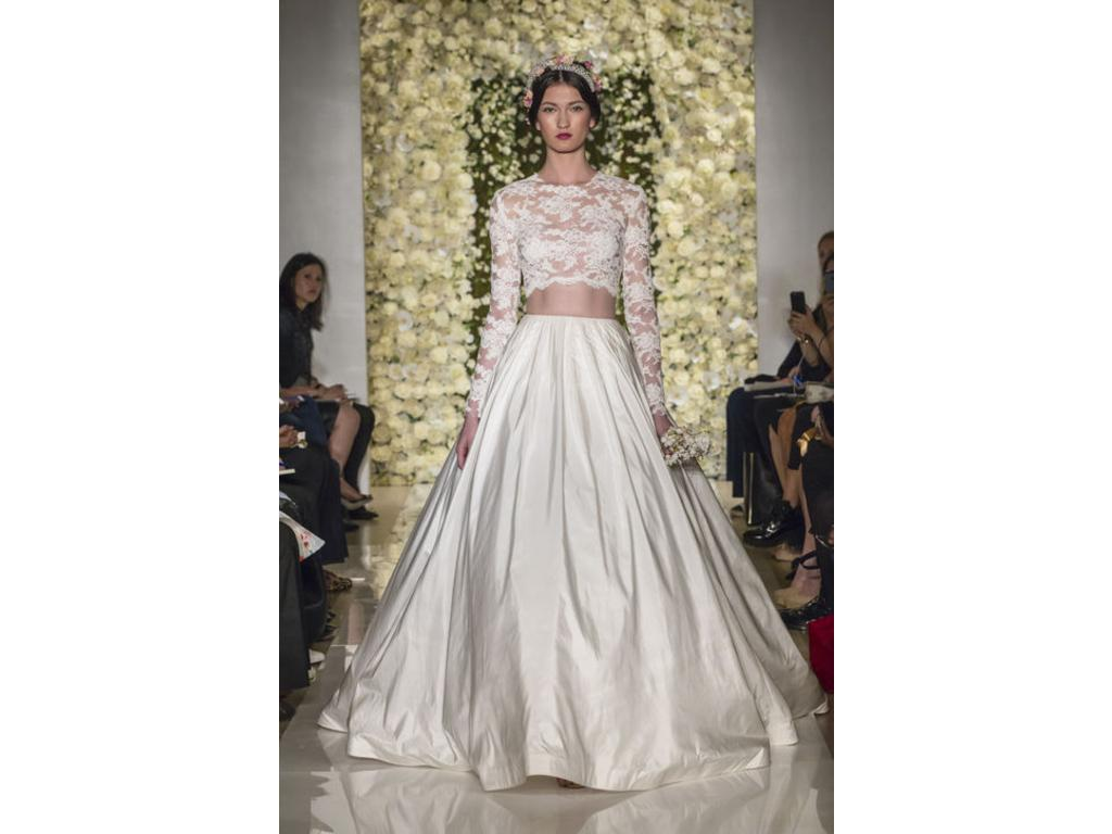 Reem Acra Im Special Lace Top Im Timeless Skirt 3 800