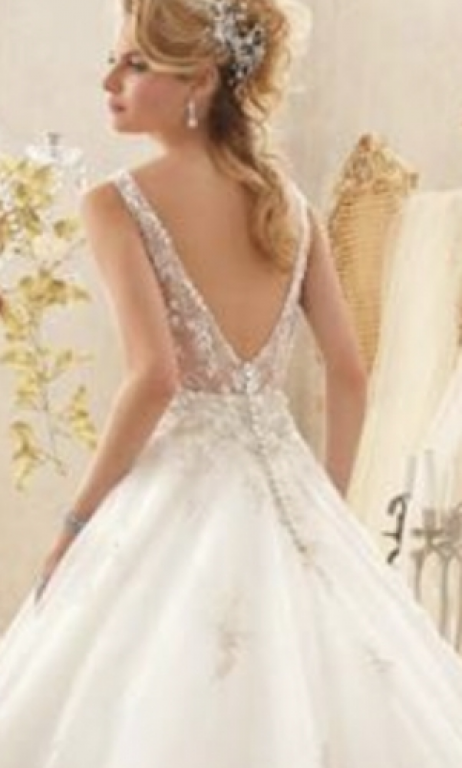 Mori Lee 2618, $800 Size: 16 | New (Un-Altered) Wedding Dresses
