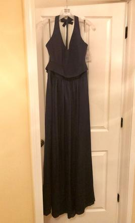 2c9a5003f8 Pin it · Vera Wang V-Neck Halter Gown with Sash -  VW360214 12