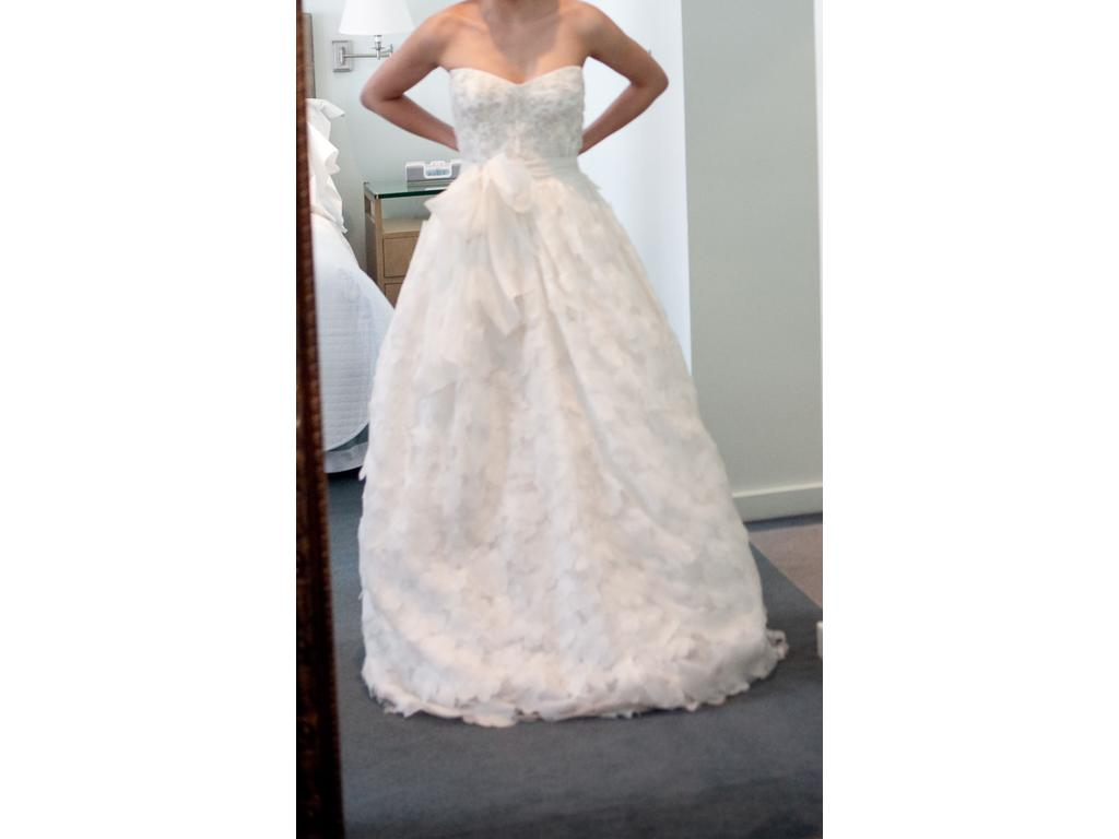 Monique lhuillier desiree top bed of roses skirt 2 999 for Best place to buy used wedding dresses