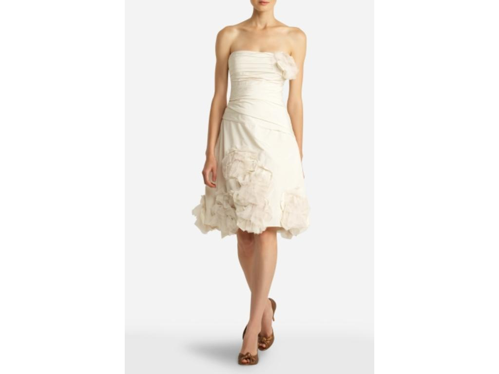 BCBG MAXAZRIA Strapless Appliqué Dress MIF64539-101 , $200 Size: 6 ...