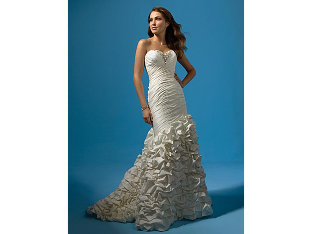 Alfred Angelo 2117 Ruffled Mermaid, $450 Size: 16 | New (Un-Altered ...