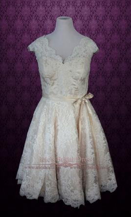 Other NWT Retro 50s Lace Short Tea Length Wedding Dress 16