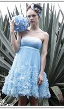 Other Strapless Blue Short Bridesmaid Cocktail Dress 8