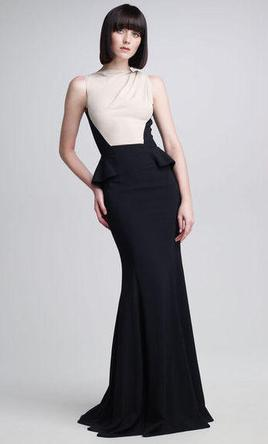 Elie Saab Colorblock Bodice Gown 2