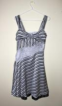 Other Moschino Jeans Silk Black & White Striped Dress 10