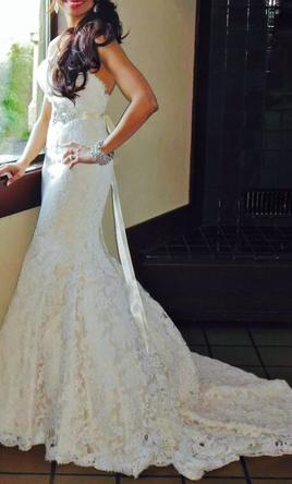 Ines di santo manye dress 3 500 size 4 used wedding for Ines di santo wedding dresses prices