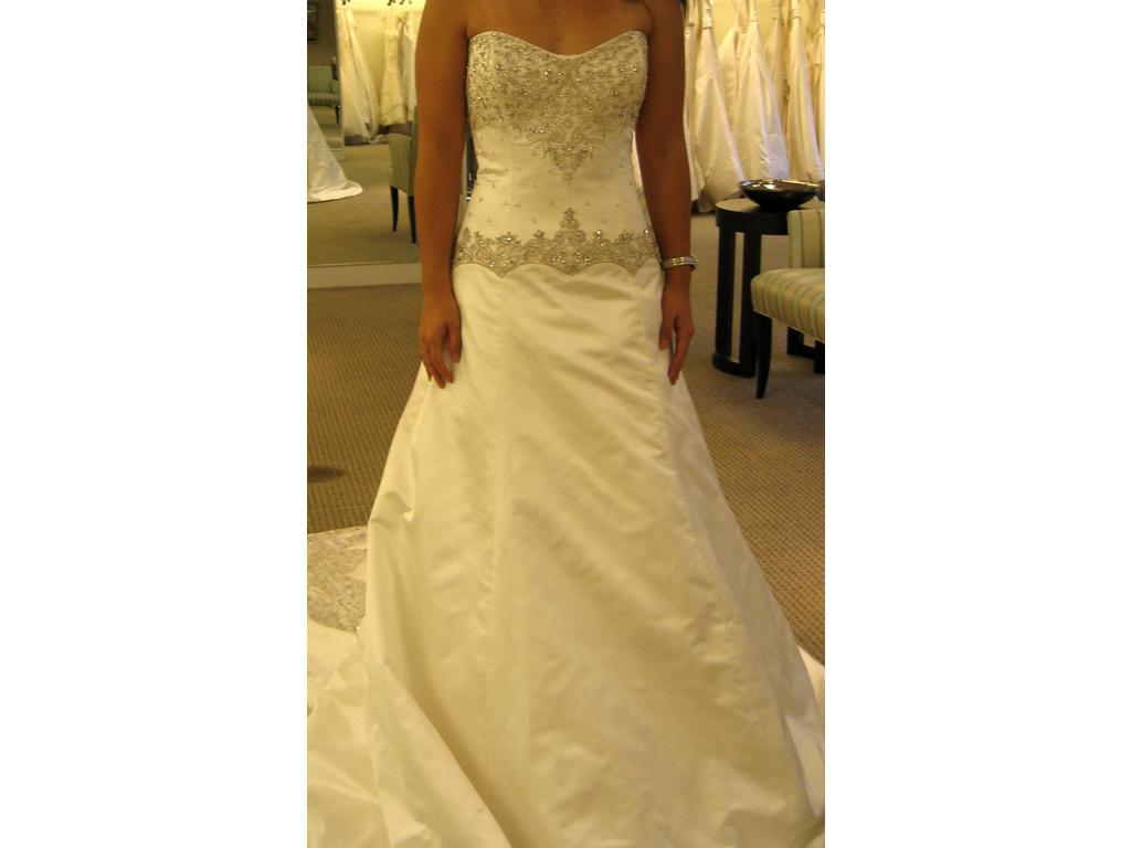 Priscilla of boston pl135 1 000 size 4 used wedding for Where to buy a wedding dress in boston