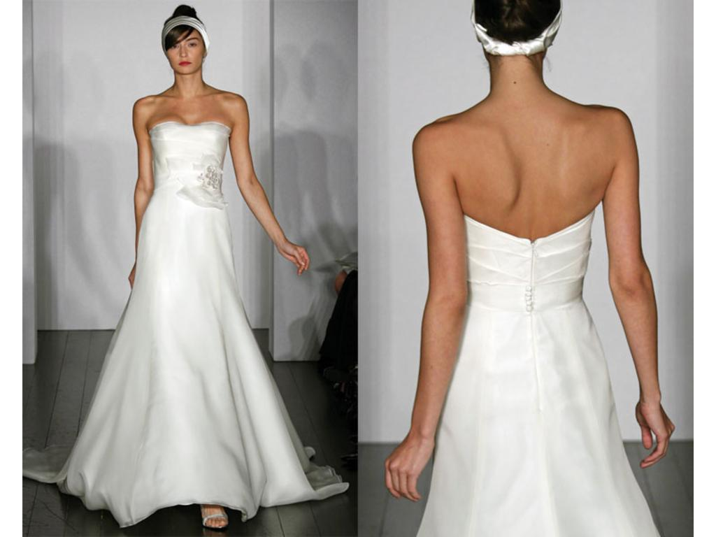 Amsale cecily 1 500 size 8 used wedding dresses for Used amsale wedding dress