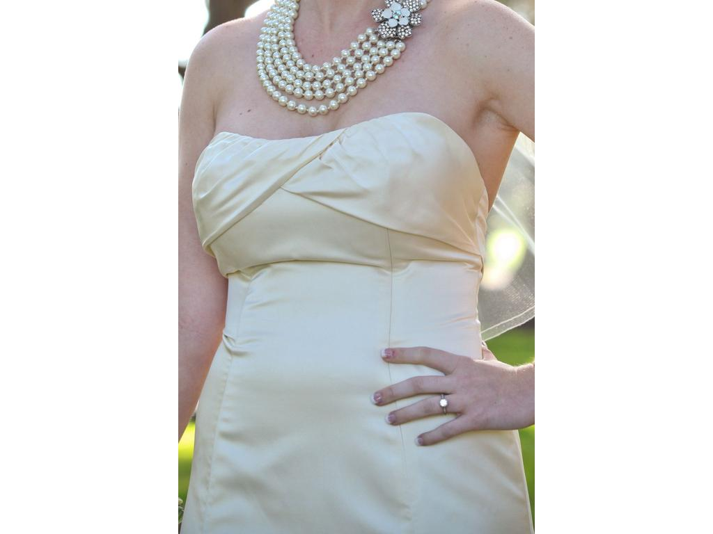 Melissa Sweet MS Lia Double Faced Satin, $400 Size: 8   Used Wedding ...