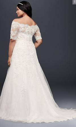 aed854a6cb2 Pin it · Other Jewel 3 4 Sleeve Plus Size Wedding Dress - 9WG3734 16W