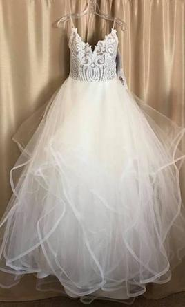 Hayley Paige 1700 Pepper Wedding Dress   New (Altered