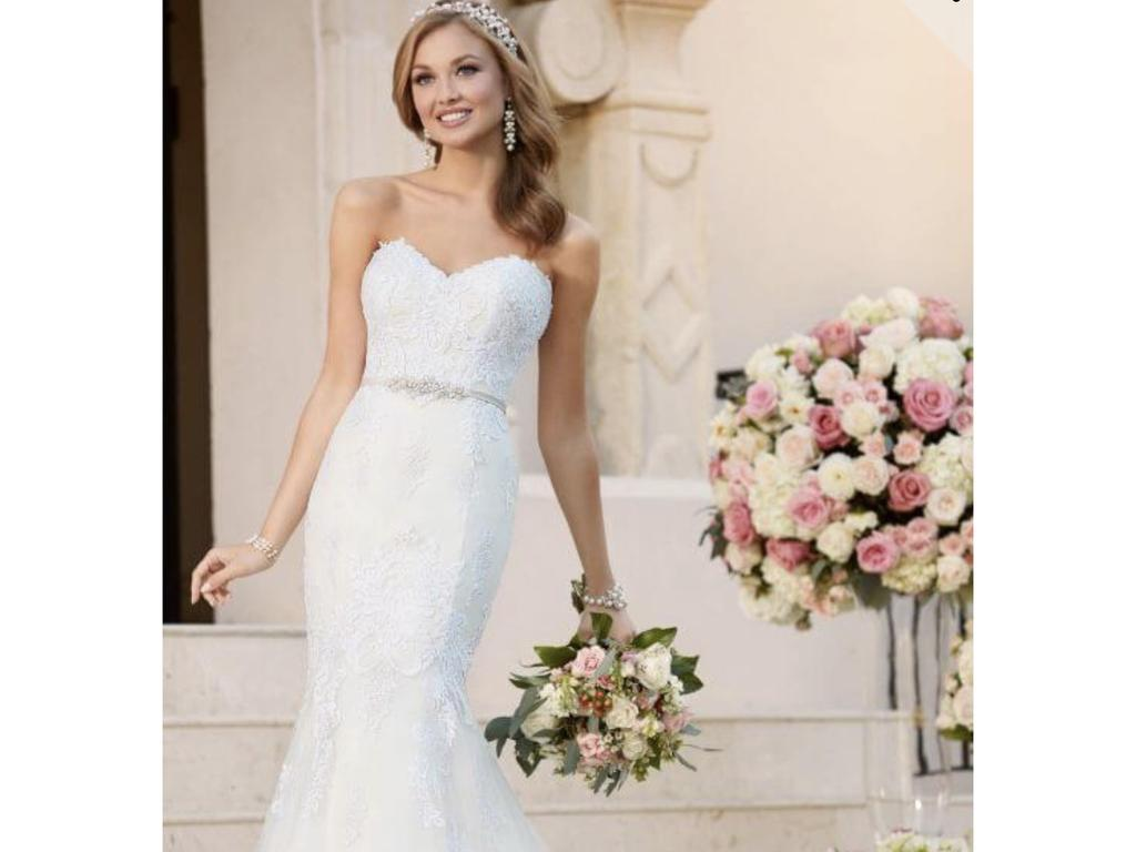 Sweetheart Neckline Wedding Dress.Stella York 6272 Fit And Flare With Sweetheart Neckline