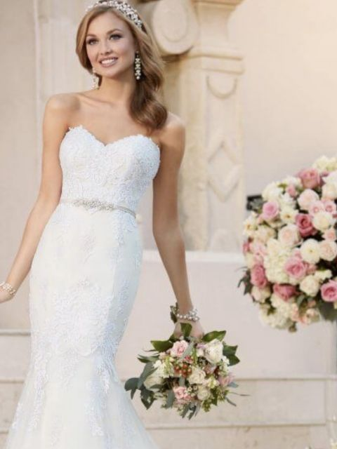 Stella York 6272 Fit And Flare With Sweetheart Neckline Wedding Dress New Size 14 500