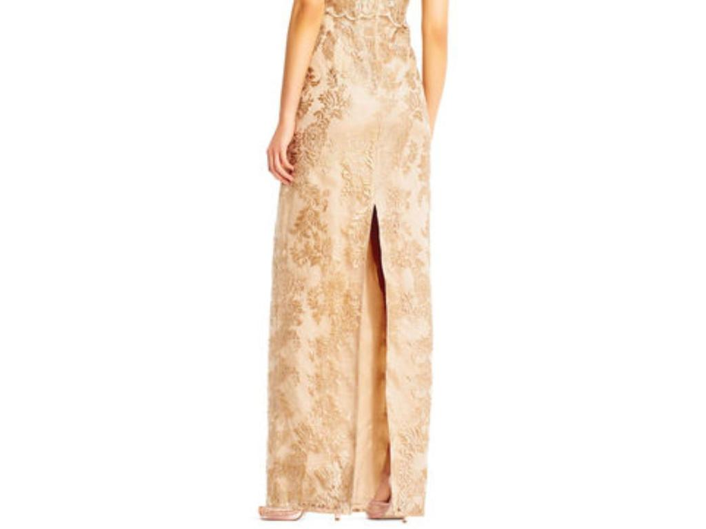 Alfred Angelo Metallice Lace Dress Style Ap1e201453 Size