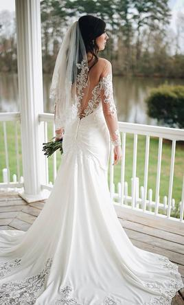 Galina wedding dresses for sale preowned wedding dresses galina crepe wedding dress junglespirit Choice Image