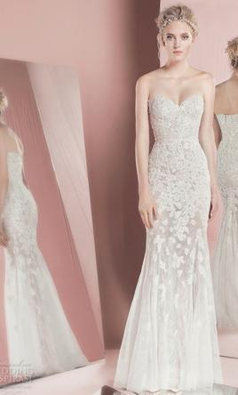 Zuhair Murad Ethereal Mermaid Wedding Gown Condition Used