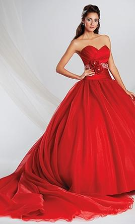 Red wedding dresses preowned wedding dresses alfred angelo junglespirit Choice Image